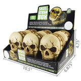 Item# 25979. Poly Skull Stash.  $180/case.  36 pcs, 6 inners of 6 pcs. Free Shipping!