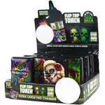 Item# 26166. Flip Top Single Torch- Glow in the Dark.  $432/case.  144 pcs, 12 inners of 12 pcs. Free Shipping!