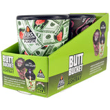 Item #40310. Printed Butt Bucket.  $84/case.  24 pcs, 12 inners of 2 pcs. Free Shipping!