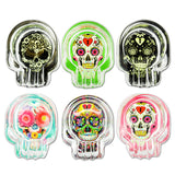Glass Sugar Skull Ashtray