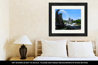 Framed Print, Salem Oregon Capitol Building And Water Fountain - X-Marks