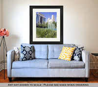 Framed Print, Downtown Of Oklahoma City - X-Marks