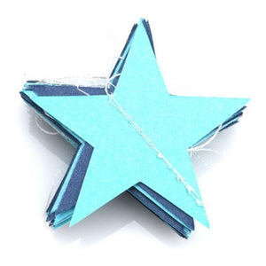 4M Paper Star Garlands Banner Birthday String Chain Wedding Party Decoration Banner Room Home Theme Party Toys Decoration Access - X-Marks
