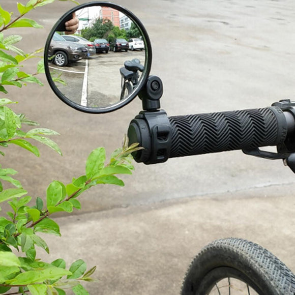 Bicycle Rearview Handlebar Mirrors Cycling Rear View MTB Bike Silicone Handle Rearview Mirror - X-Marks