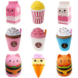 Jumbo Cute Popcorn Cake Hamburger Squishy Unicorn Milk Slow Rising  Squeeze Toy Scented Stress Relief for Kid Fun Gift Toy - X-Marks