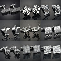 French shirt cufflink for mens Brand designer Cuffs link Button male Gold High Quality Luxury Wedding - X-Marks