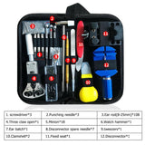 147pcs Watch Repair tool Kit Watch Link Pin Remover Case Opener Spring Bar Remover Horlogemaker Gereedschap Repair WatchTool Kit - X-Marks