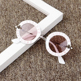 Kids Sun glasses 2019 New Infant Kids Baby Girls Boys Sunglass Letter Sun Glasses Beach Party Accessories - X-Marks