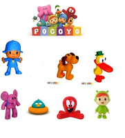 FIGURE POCOYO COMANSI and BULLYLAND ELLIY ,LOULA, Duck, FOR CHILDREN CUMPLEAÑO gift - X-Marks