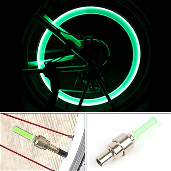 Mini LED Bicycle Lights Install at Bicycle Wheel Tire Valve's Cycling Bicycle Accessories Bike LED Light Bike Riding Lamps Gift - X-Marks