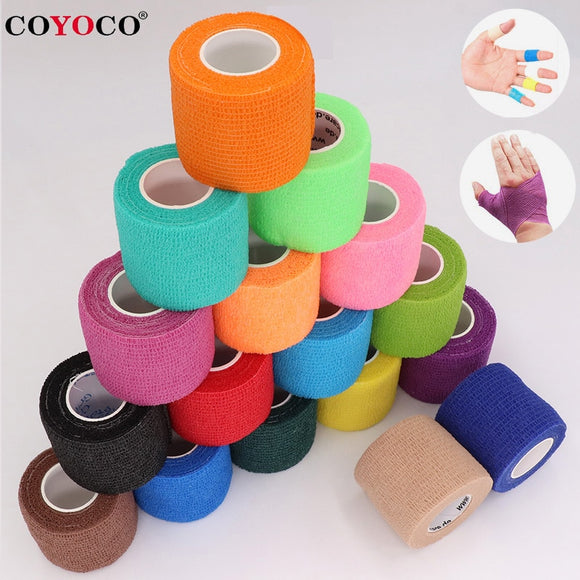 COYOCO Colorful Sport Self Adhesive Elastic Bandage Wrap Tape 4.5m Elastoplast For Knee Support Pads Finger Ankle Palm Shoulder - X-Marks