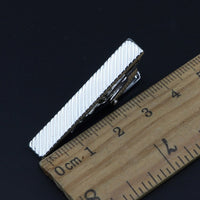 4cm New Simple Fashion Style Tie Clip Metal Exquisite Practical Pin Clasp Business Wedding Accessories High-End Gift For Men - X-Marks