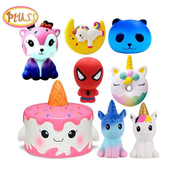 Cake Squishy Super Hero Spiderman Deer Squishies Toy Squeeze Squishi Toy Squishie Slow Rising Stress Relief Toys For Childrens - X-Marks
