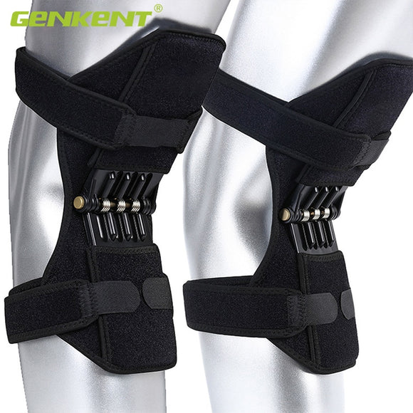 Joint Support Knee Pads Breathable Non-slip Lift Knee Pads Powerful Rebound Spring Force Knee Booster - X-Marks