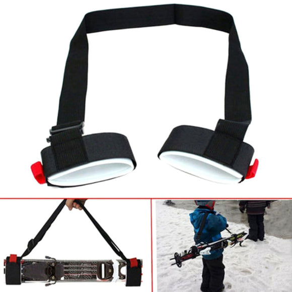 Adjustable Nylon Skiing Bags Pole Shoulder Hand Carrier Lash Handle Straps Porter Skiing Hook Loop Protecting For Ski Snowboard - X-Marks