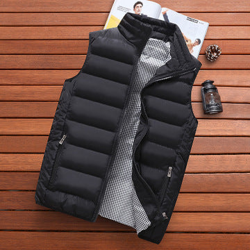 Brand Clothing Vest Jacket Mens New Autumn Warm Sleeveless Jacket Male Winter Casual Waistcoat Men Vest Plus Size Veste Homme - X-Marks