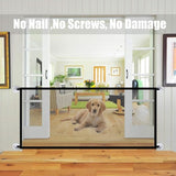 New Pet Barrier Fences Portable Folding Breathable Mesh Dog Gate Pet Separation Guard Isolated Fence Dogs Baby Safety Fence - X-Marks