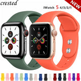 Silicone Strap For Apple Watch band 44 mm/40mm iWatch Band 38mm 42mm 44mm Sport watchband bracelet apple watch series 5 4 3 2 1 - X-Marks