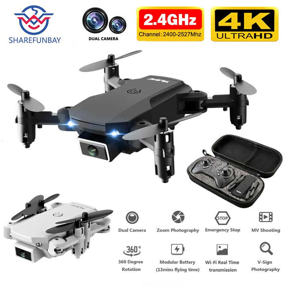 SHAREFUNBAY T1 drone 4k HD wide angle camera 1080P WiFi fpv drone dual camera height keeping drone with camera rc quadcopter - X-Marks