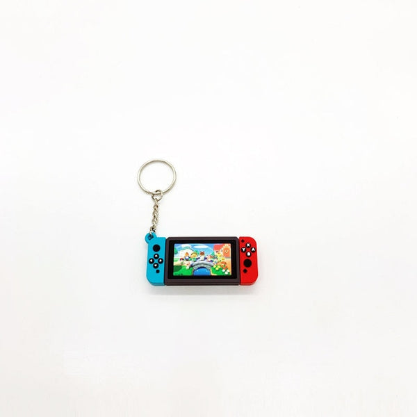 Switch Game Machine Keychains Animal Crossing Key chains Fashion Jewelry Accessories Cute Shaped Pendants Keyrings - X-Marks