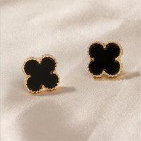 Fine environmental protection small jewelry 925 silver needle clover simple retro earrings earrings - X-Marks