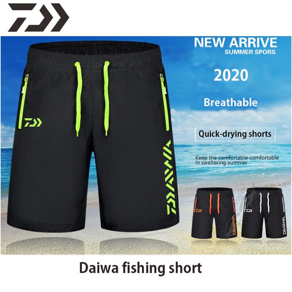 Daiwa Clothing Fishing Shorts Pants Men Summer Breathable Multi Pocket Zipper Fishing Pants Men's Sport Daiwa Pants Unisex M-9XL - X-Marks