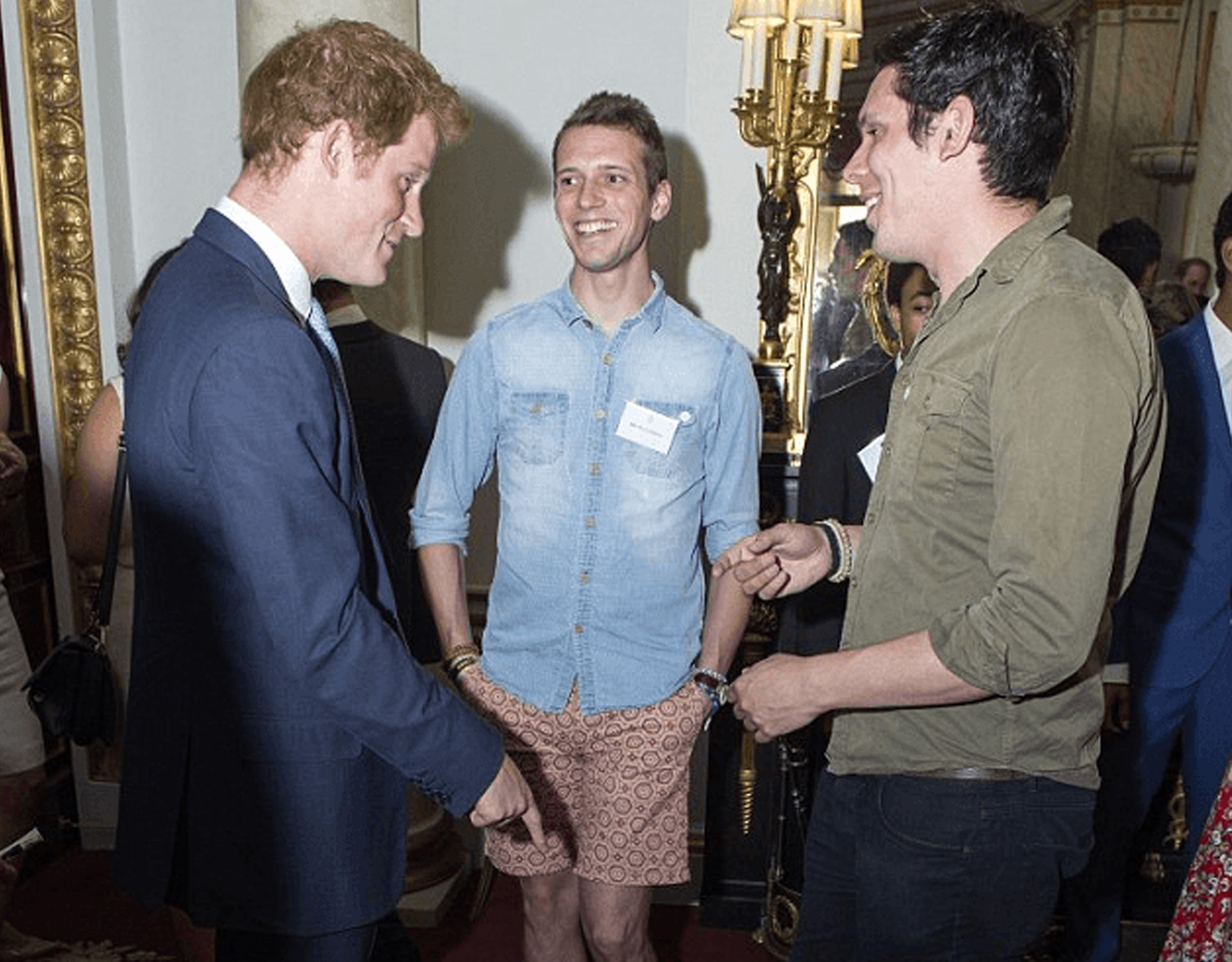 Gandys Brothers meeting Prince Harry