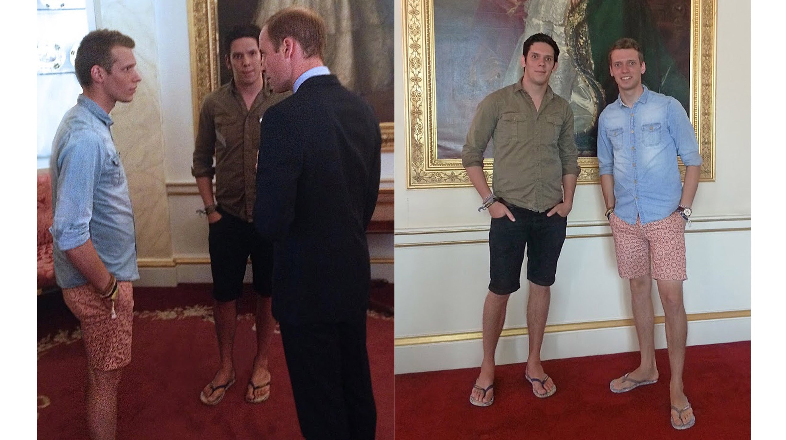 Gandys Brothers meeting Prince William