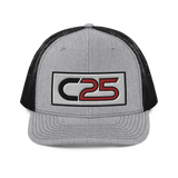 C25 Embroidered Patch (Red) Trucker Hat