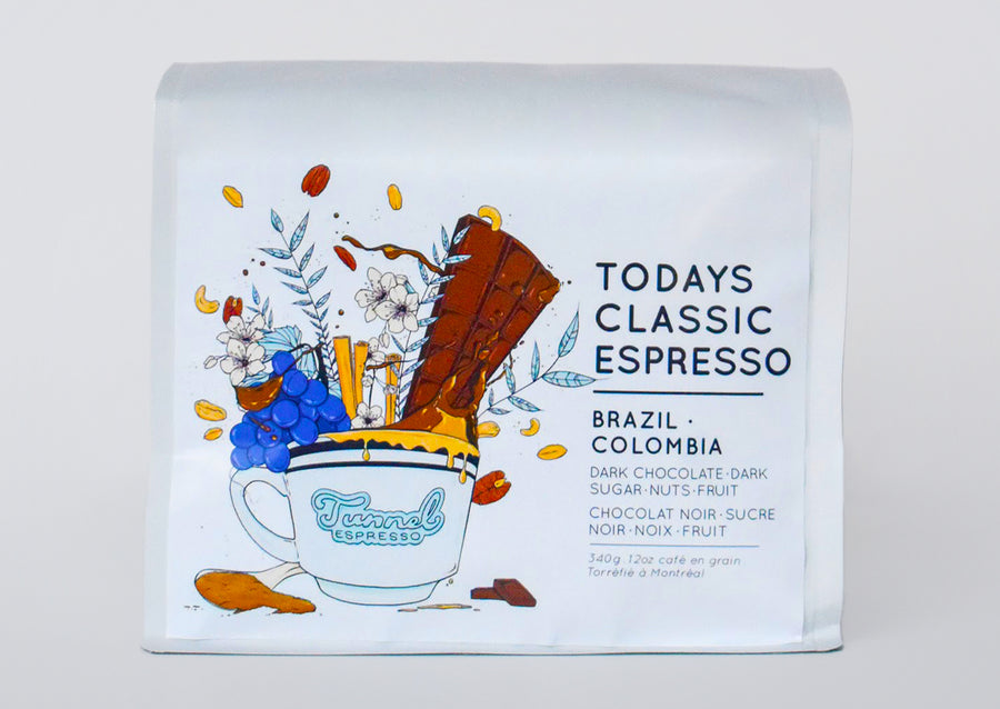 Today's Classic Espresso - Brazilian / Colombian Roasted Espresso Coffee Beans (Natural)
