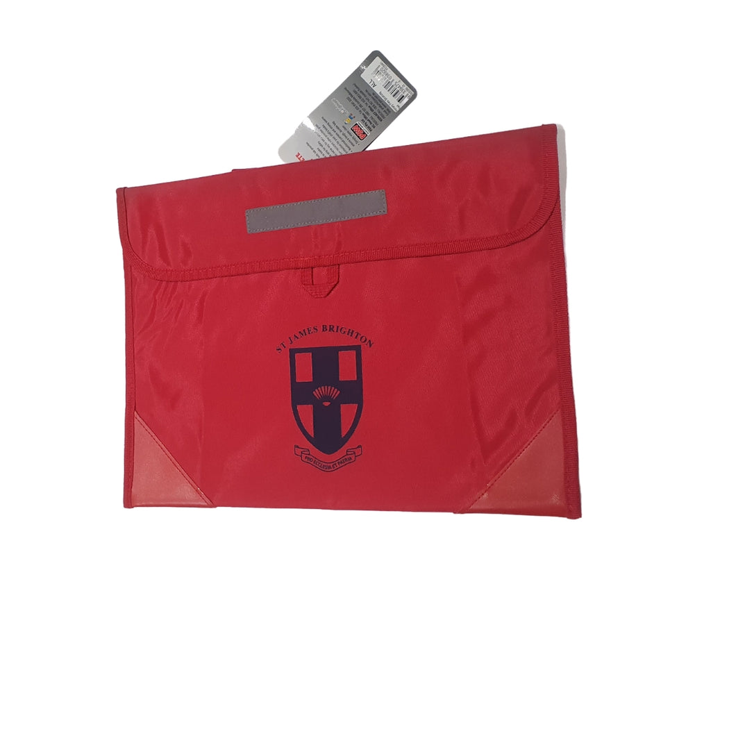 St James Red Book Bag - Library