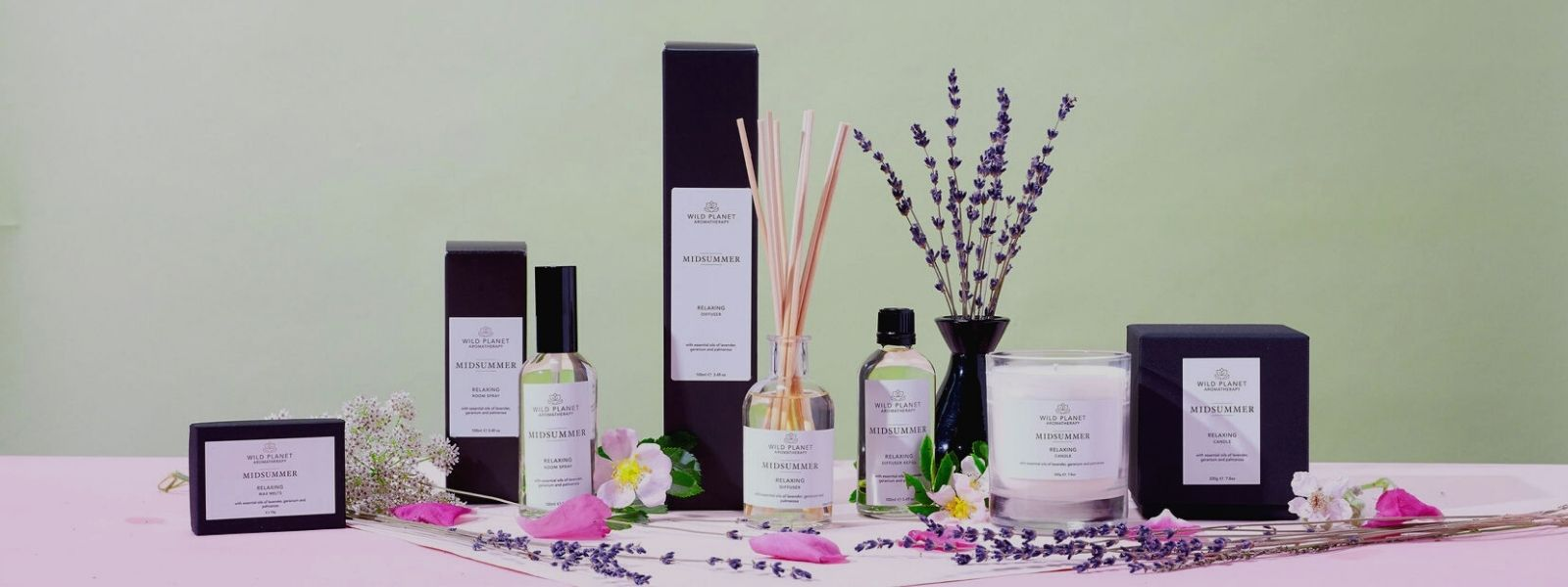 Midsummer relaxing Home Fragrance Collection by Wild Planet Aromatherapy