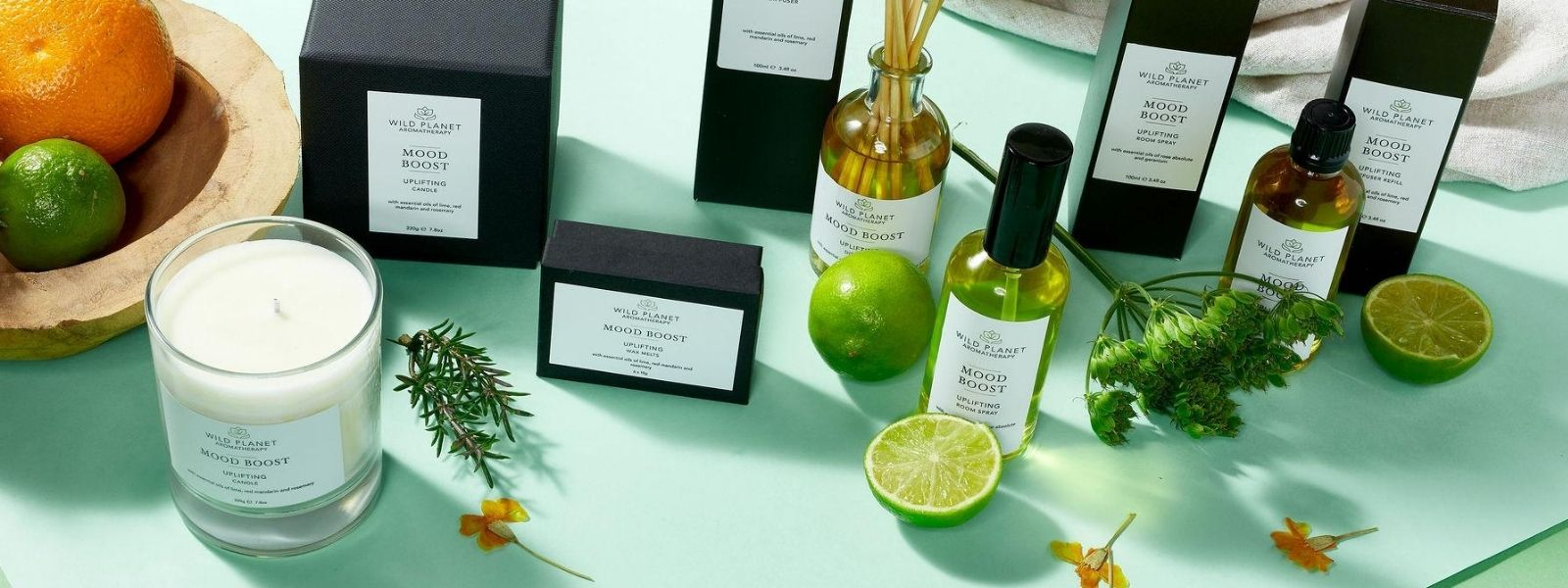 Mood Boost Home fragrance collection by Wild Planet Aromatherapy