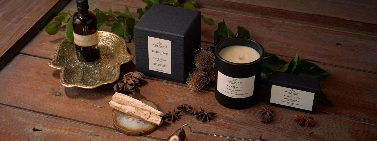 Warm Hug Home Fragrance Collection by Wild Planet Aromatherapy