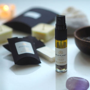 Deep Slumber Pillow Mist, wax melts, tea lights, amethyst crystal by Wild Planet Aromatherapy