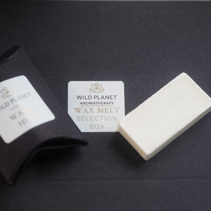 Luxury Wax Melt and sachet on top of Luxury Letterbox Gift Selection of Wax Melts by Wild Planet