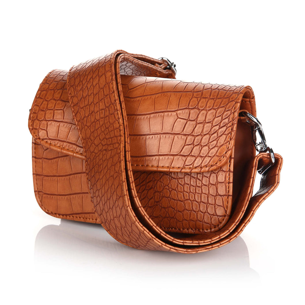 snake bag brown