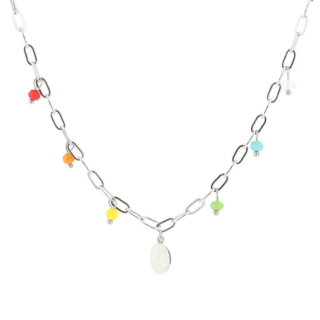 Ketting colourful pearl