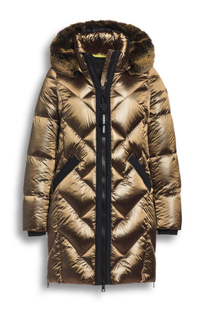CS1130203 CREENSTONE QUILTED BRONZE DOWN PUFFER-PUFFER-CREENSTONE-38-Janan Boutique
