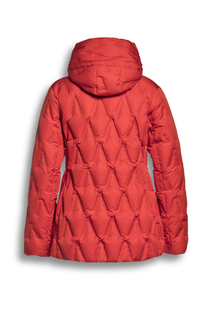 CS24202031 CREENSTONE V QUILT DOWN PUFFER SUNSET RED-PUFFER-CREENSTONE-34-Janan Boutique