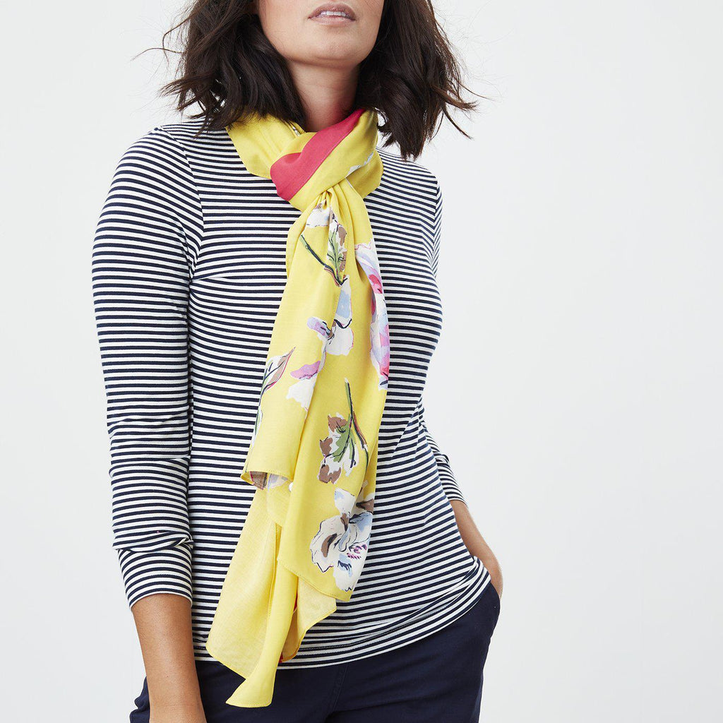 Joules Conway Scarf Yellow Floral-Scaves-JOULES-ONE-Janan Boutique
