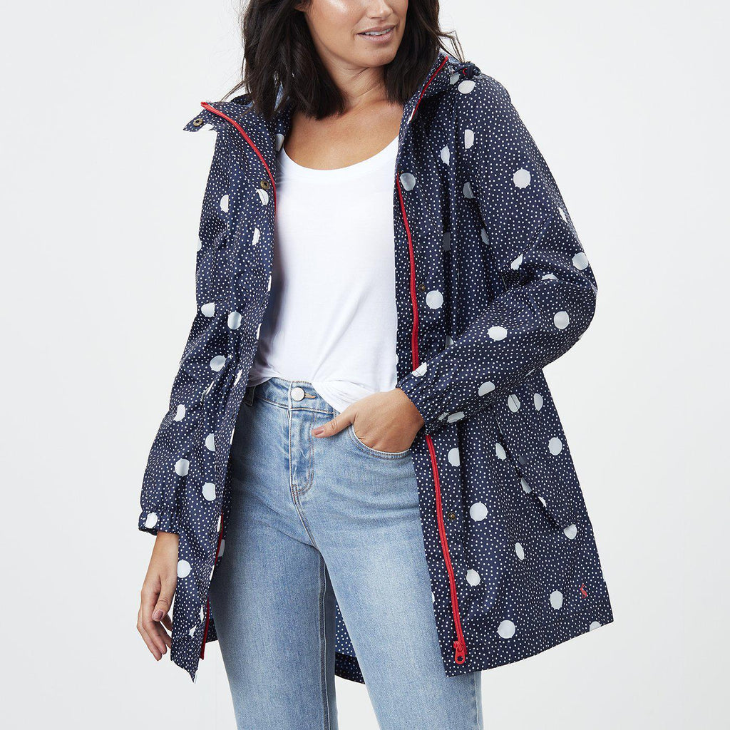 Joules Golightly Waterproof Packable Jacket Navy Spot-FUNCTIONAL-JOULES-4-Janan Boutique