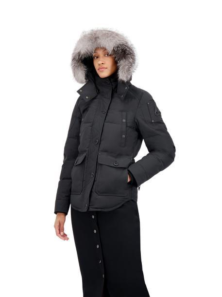 QUEBEC JACKET BLACK W FROST FUR-PARKA-MOOSE KNUCKLES-S-Janan Boutique