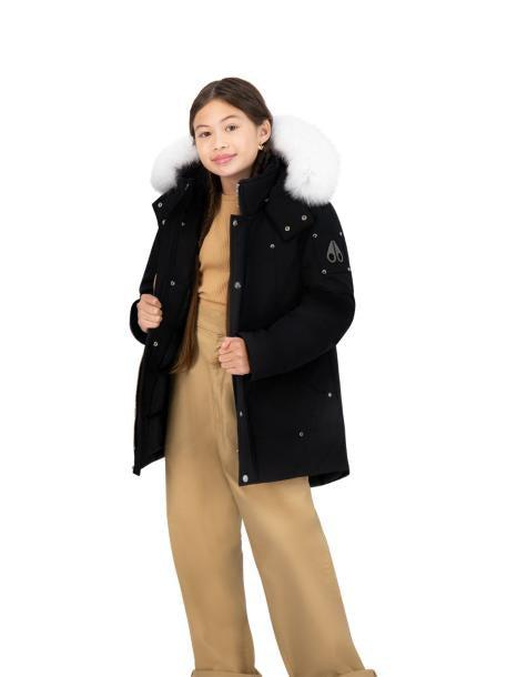 UNISEX PARKA BLACK W NATURAL FUR-PARKA-MOOSE KNUCKLES-XL-Janan Boutique