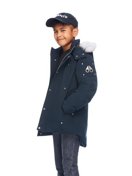 UNISEX PARKA NAVY W NATURAL FUR-PARKA-MOOSE KNUCKLES-M-Janan Boutique