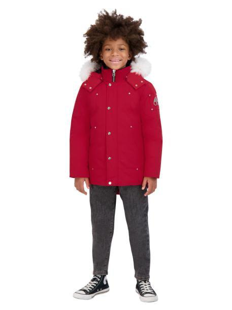 UNISEX PARKA RED W NATURAL FUR-PARKA-MOOSE KNUCKLES-M-Janan Boutique