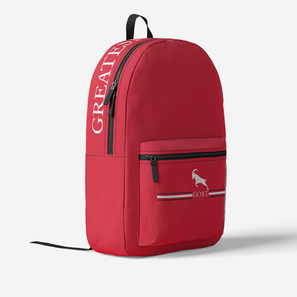 GOAT 23 Red White and Black Retro Backpack