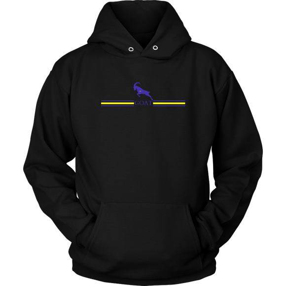 GOAT 24 Black Purple and Yellow Hoodie