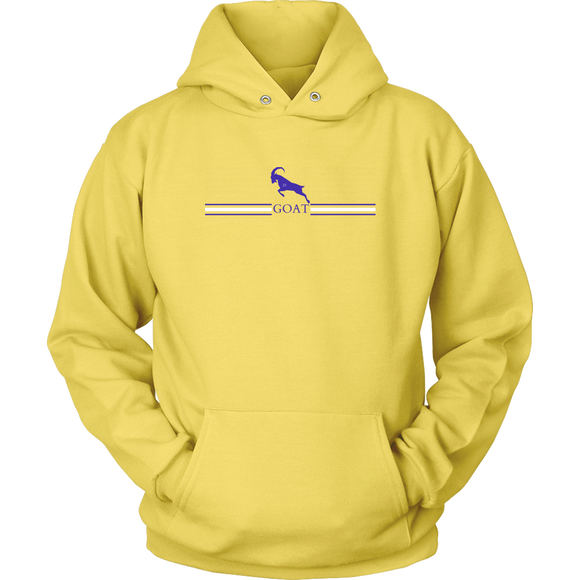 GOAT 23 Yellow Purple and White Hoodie