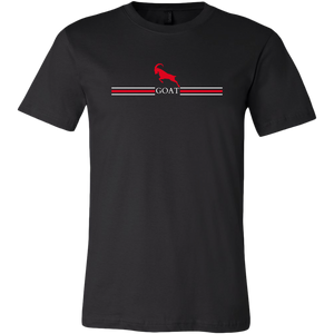 GOAT Black Red and White Unisex Short Sleeve